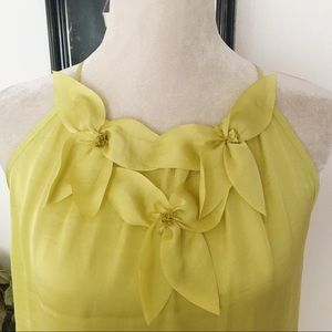 Violet & Claire Neon Yellow Halter Blouse Top